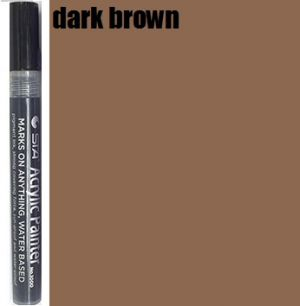 STA Acrylic Marker- Dark Brown 2-3 mm